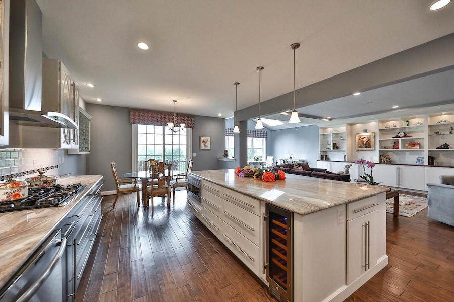 house for sale flourtown neotraditional townhouse kitchen and breakfast nook