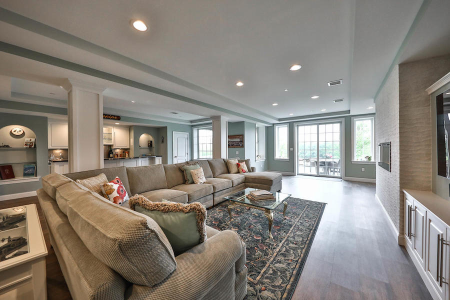 house for sale flourtown neotraditional townhouse basement media/rec room
