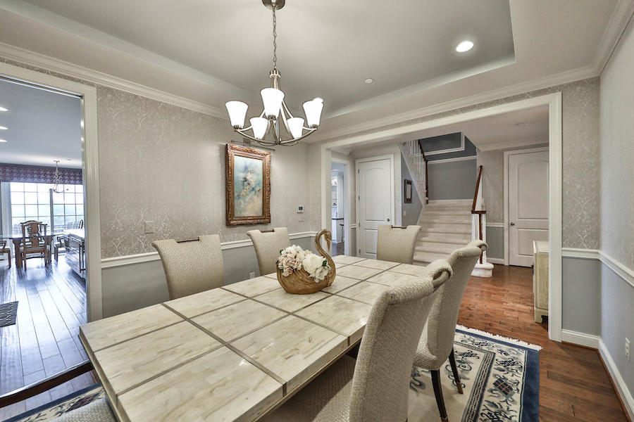 house for sale flourtown neotraditional townhouse dining room