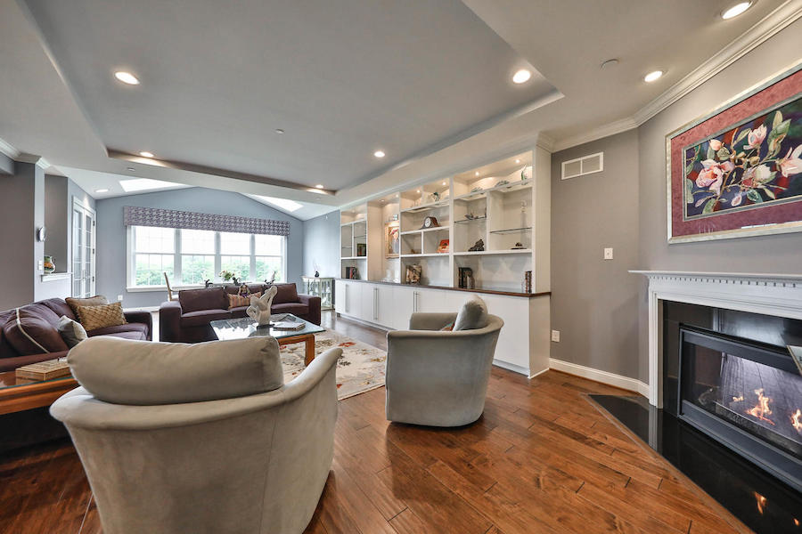 house for sale flourtown neotraditional townhouse living room