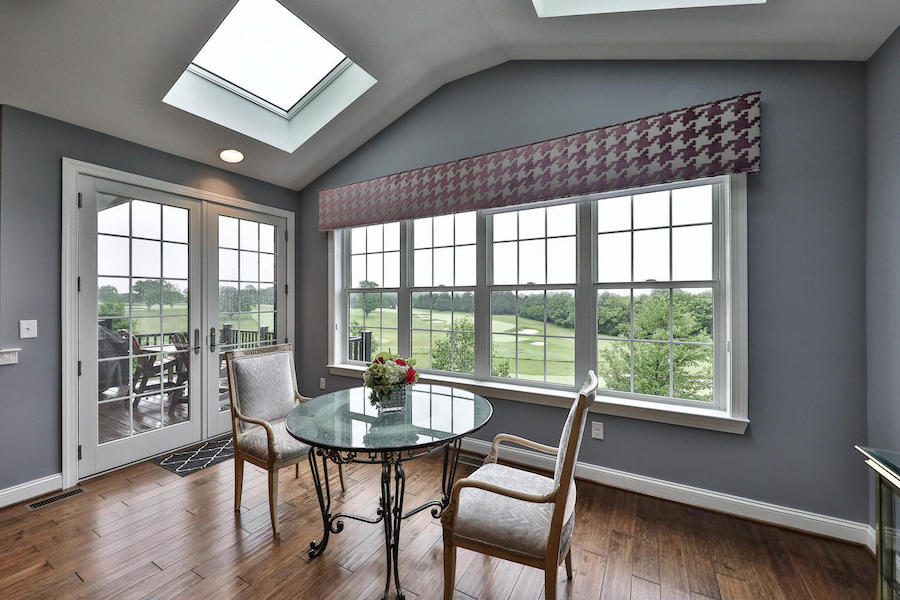 house for sale flourtown neotraditional townhouse sunroom
