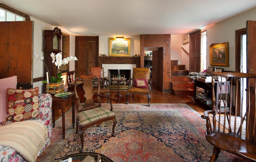 house for sale wrightstown hortulus farm main house living room