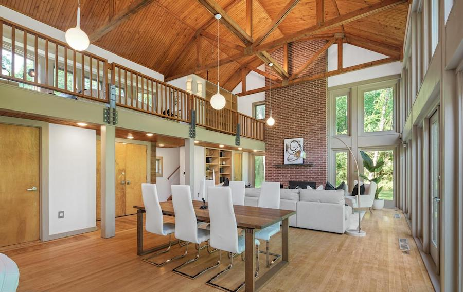 house for sale newtown square remixed barn living and dining areas
