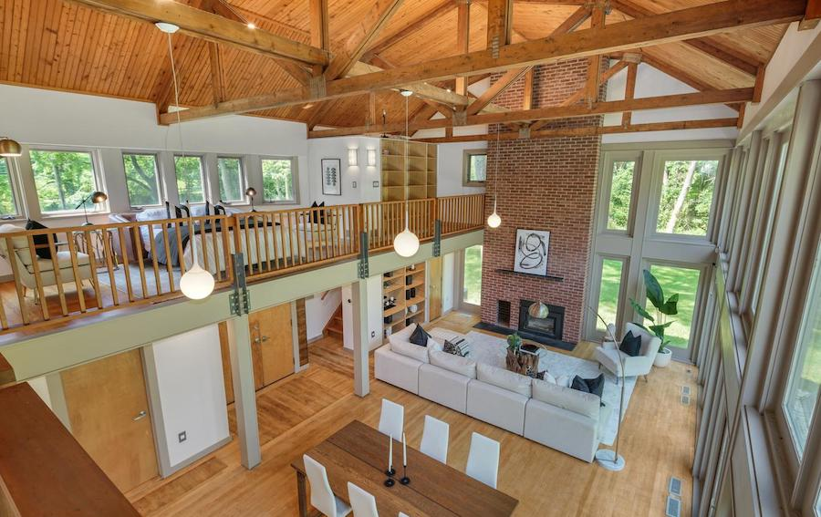 house for sale newtown square remixed barn view of main floor from second bedroom