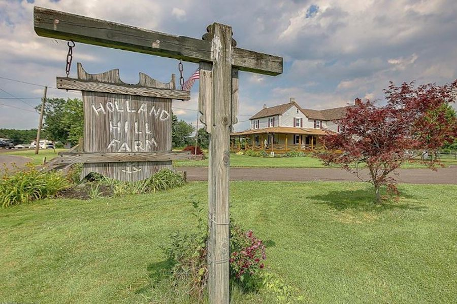 house for sale perkasie holland hill farm main entrance