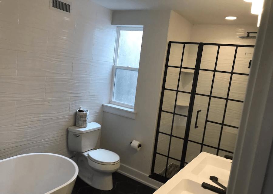 house for sale point breeze rehabbed row house bathroom