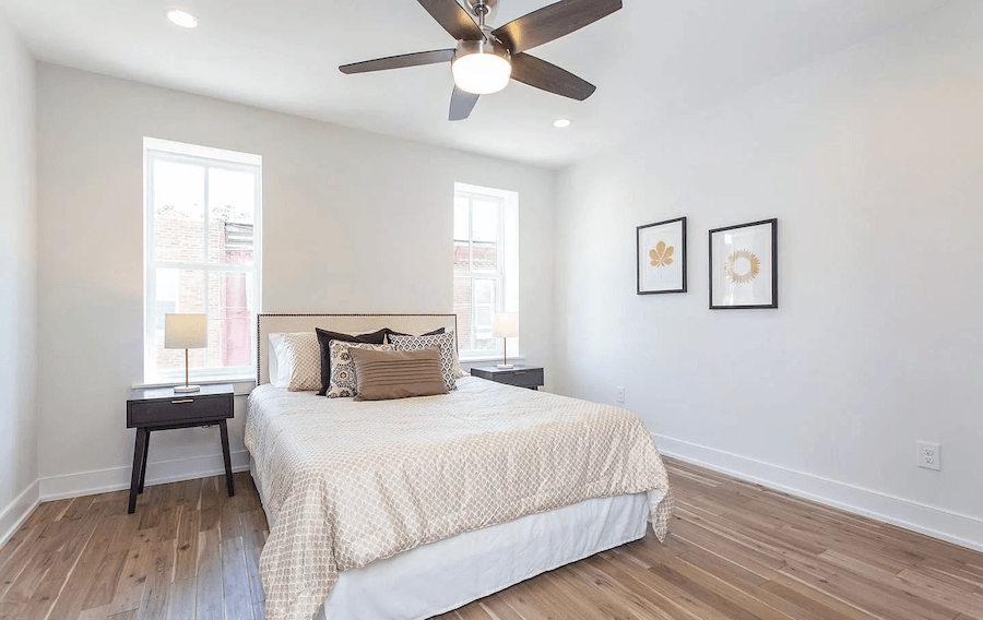 house for sale point breeze rehabbed row house bedroom