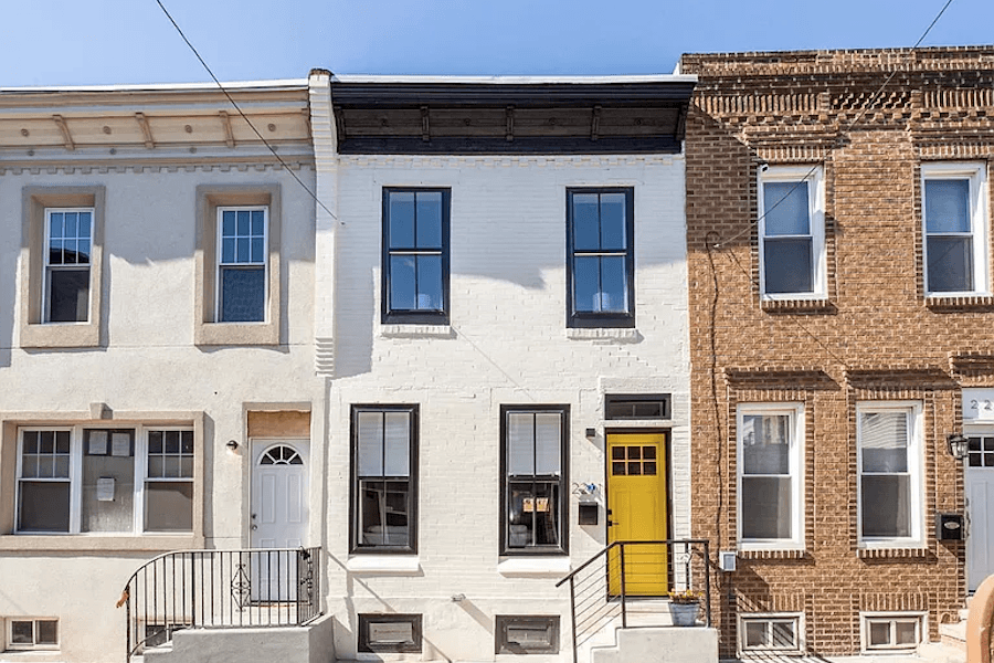 house for sale point breeze rehabbed row house front elevation