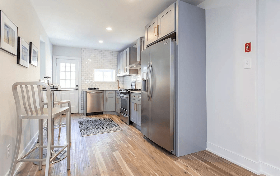 house for sale point breeze rehabbed row house kitchen