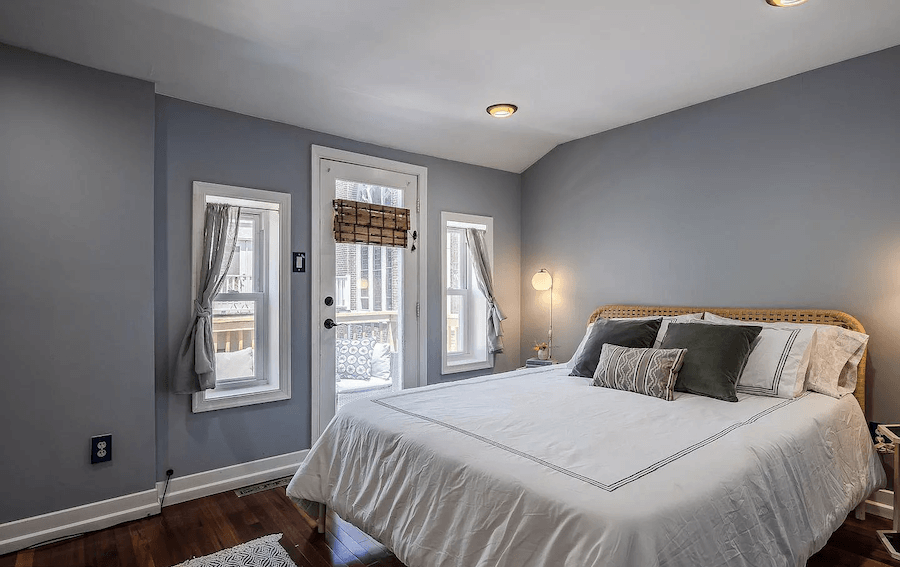 house for sale rittenhouse contemporary townhouse master bedroom