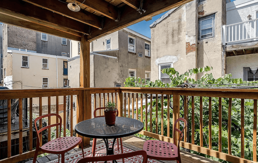 house for sale rittenhouse contemporary townhouse main floor deck