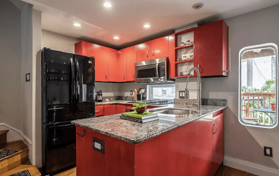 house for sale rittenhouse contemporary townhouse kitchen