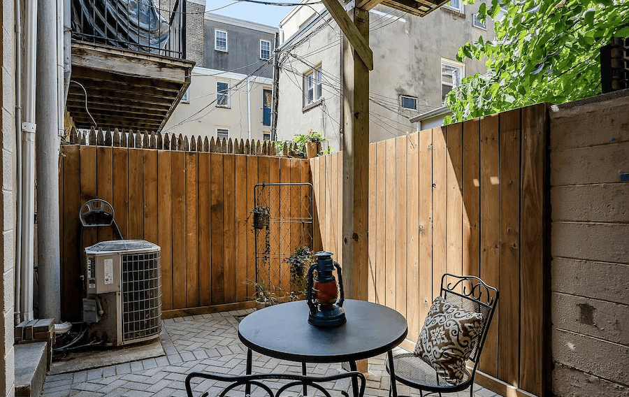 house for sale rittenhouse contemporary townhouse ground floor patio