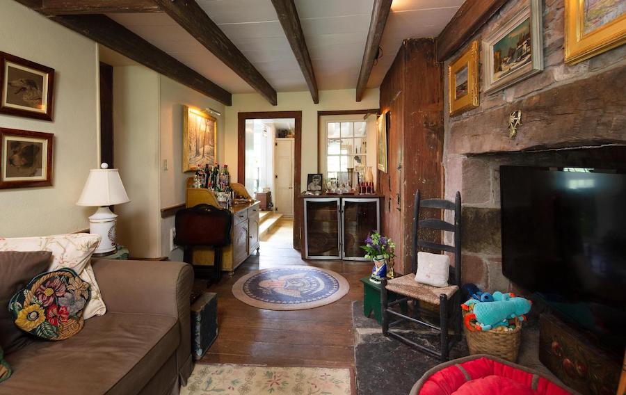 house for sale wrightstown hortulus farm main house tv room