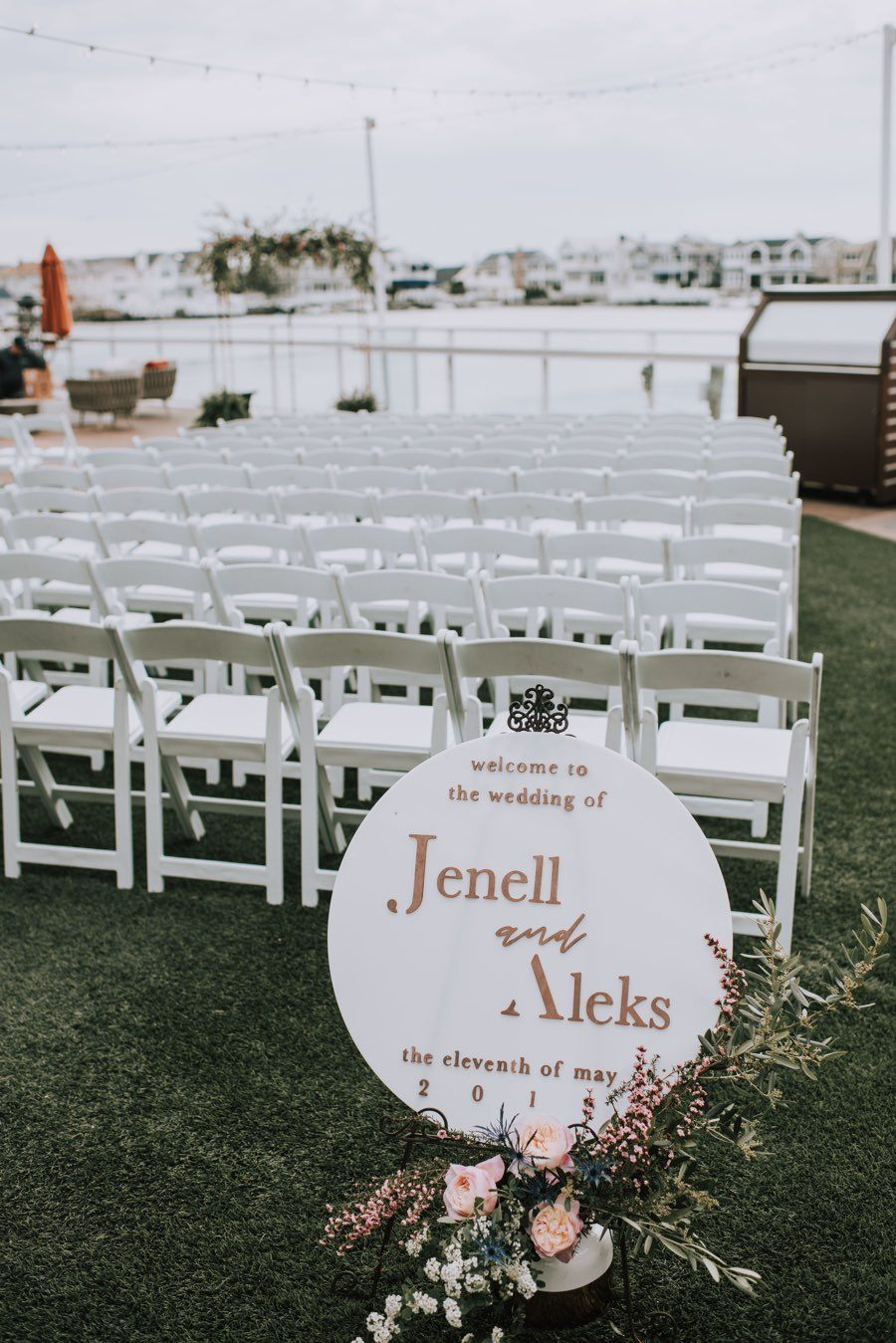 copper wedding welcome sign