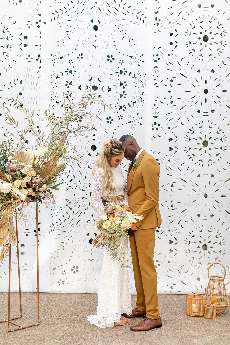 papel picado ceremony backdrop