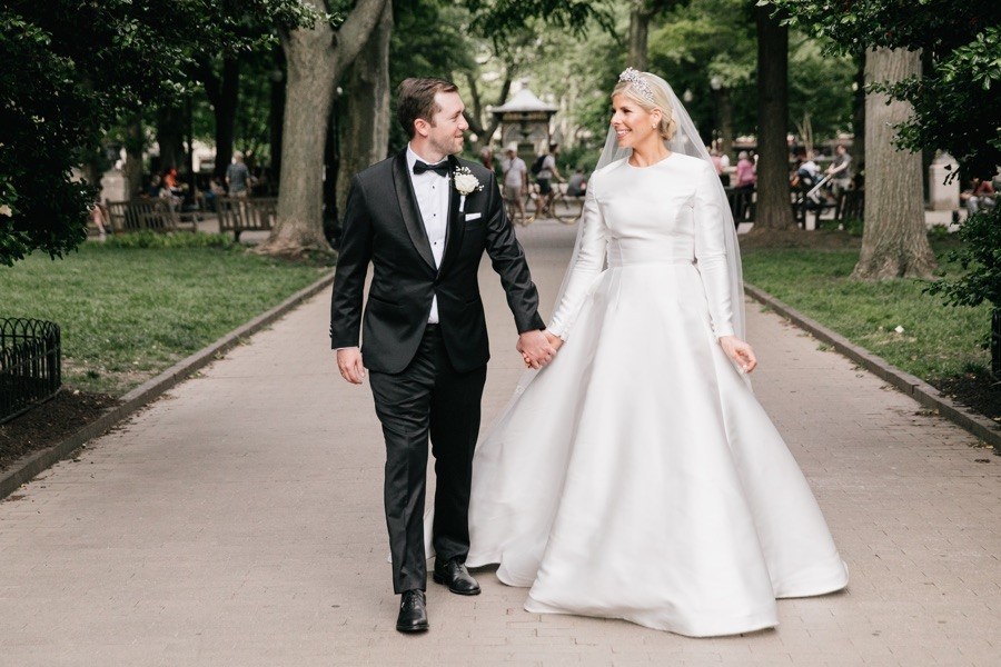 romona keveza long sleeve gown