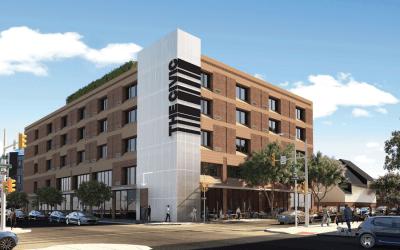 the civic apartment profile exterior rendering