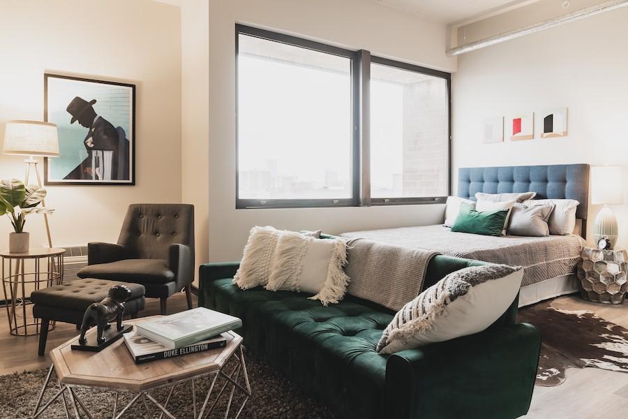 the civic apartment profile model studio apartment