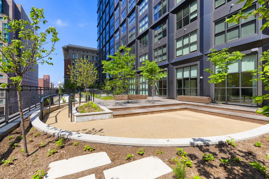the girard apartment profile outdoor children's play area