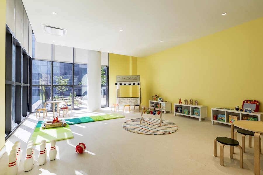 the girard apartment profile children's play room