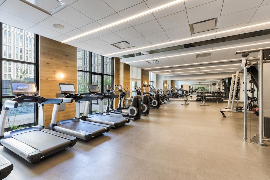 the girard apartment profile fitness center