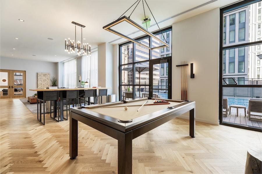 the girard apartment profile game room