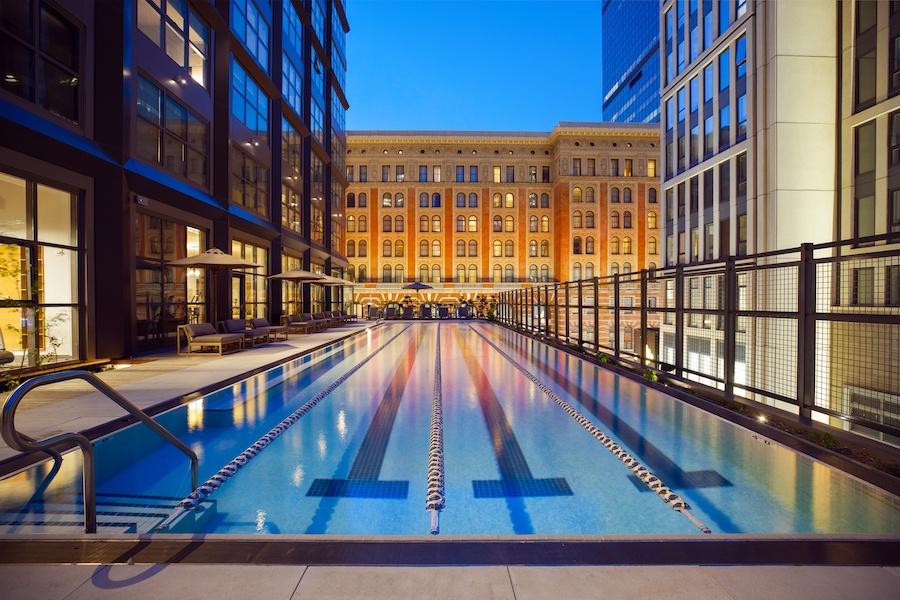 the girard apartment profile east terrace pool