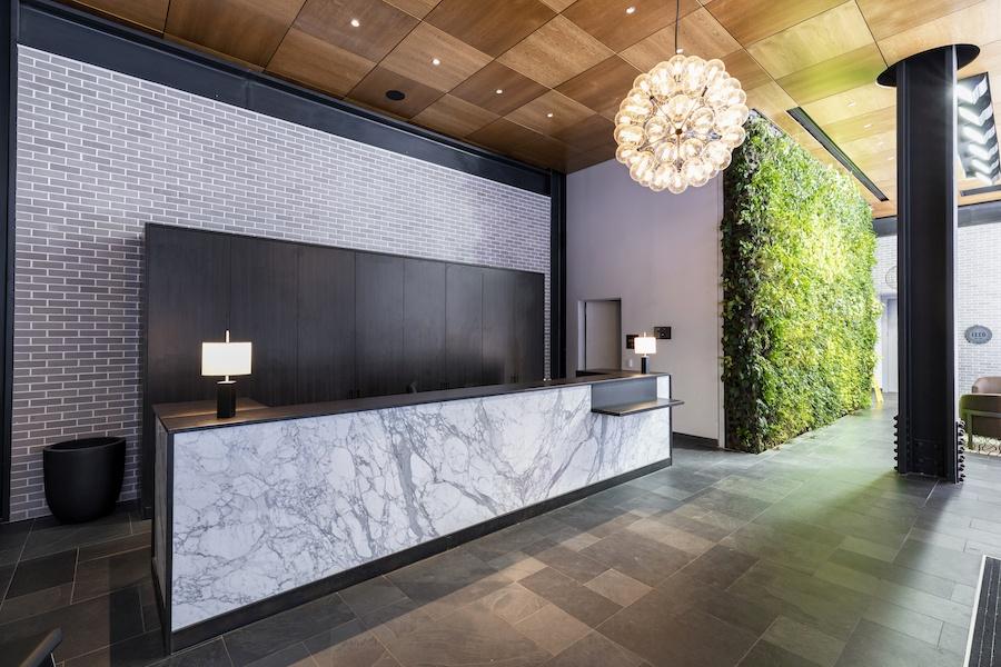 the girard apartment profile building lobby