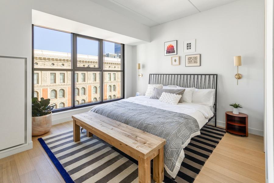 the girard apartment profile model apartment bedroom