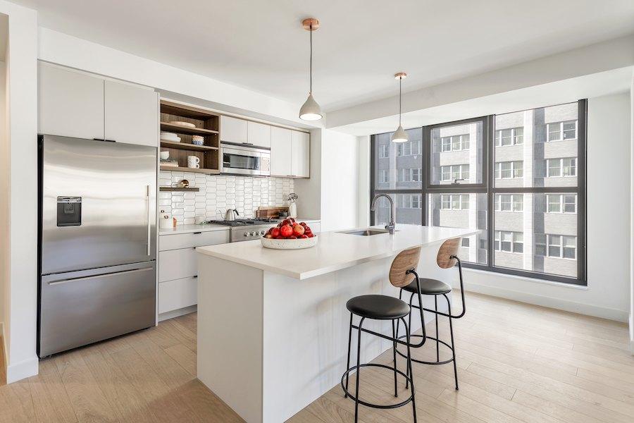 the girard apartment profile model apartment kitchen
