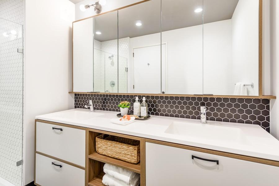 the girard apartment profile model apartment master bathroom