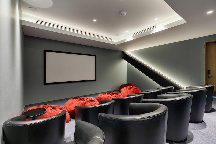 the girard apartment profile screening room