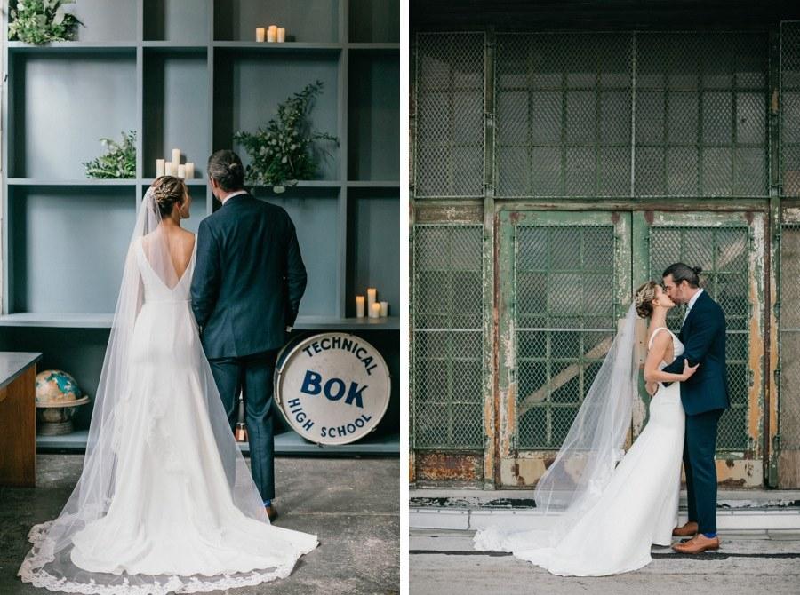 Bok Building wedding portraits