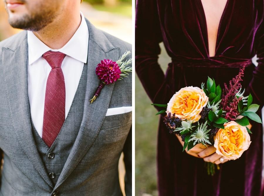 Groomsmen and bridesmaids details
