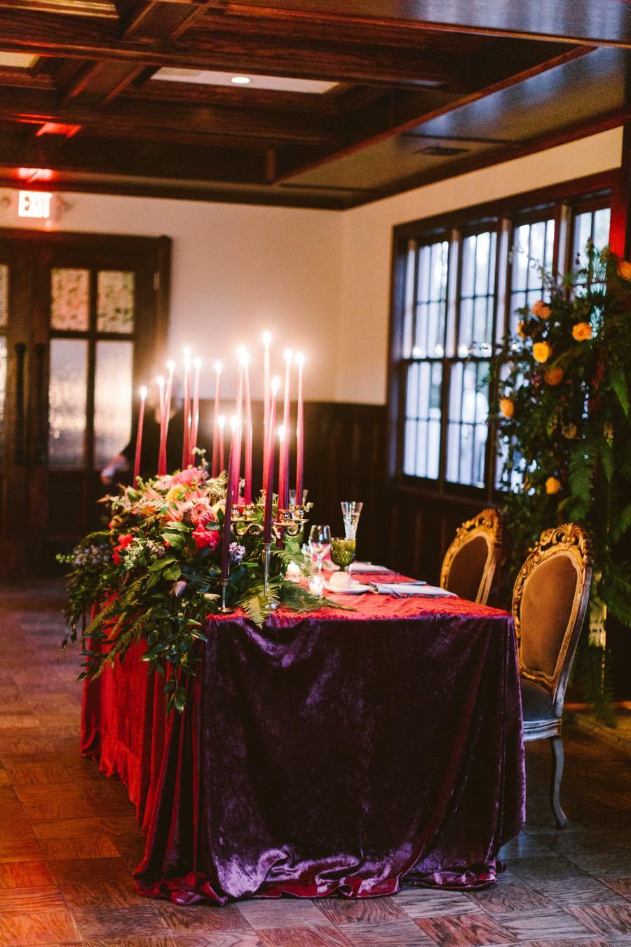 Hotel du Village bride and groom's table