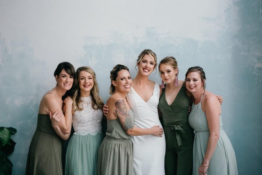 Sage green bridesmaids dresses