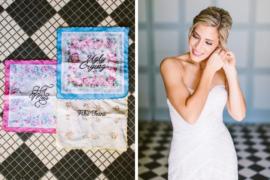 Wedding handkerchiefs