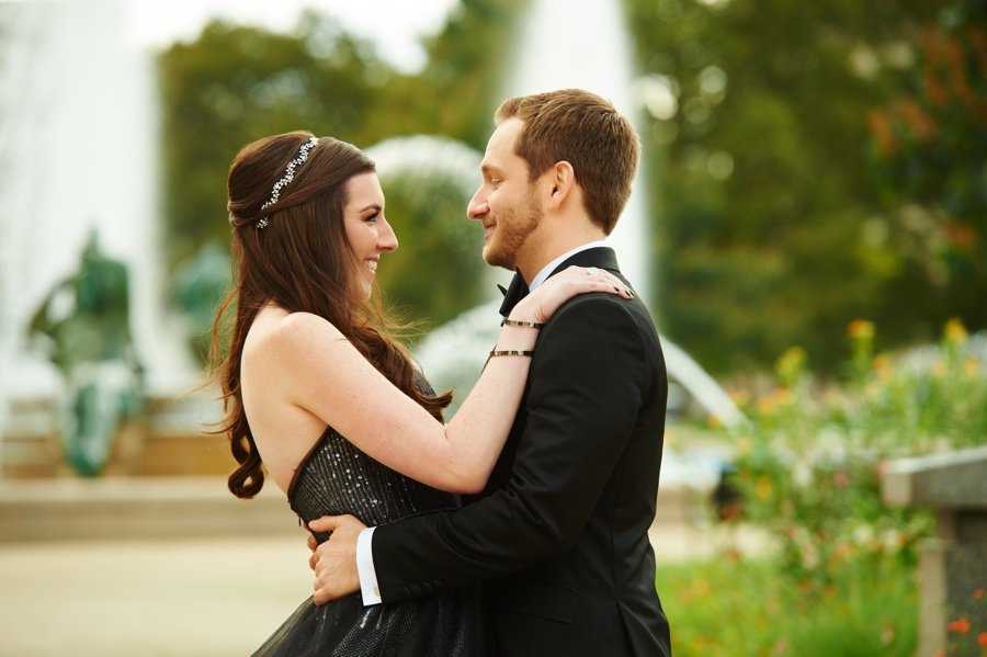 Bride and groom first look in Philadelphia