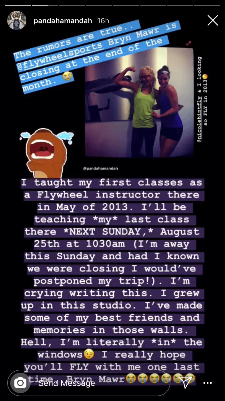 flywheel bryn mawr closing