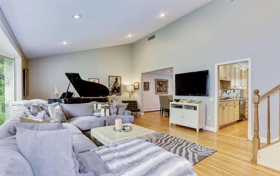 amazing split level living room | House for Sale: Tricked-Out Split-Level in Elkins Park
