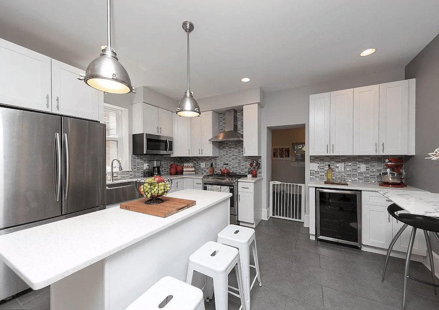 house for sale mt. airy rehabbed twin kitchen