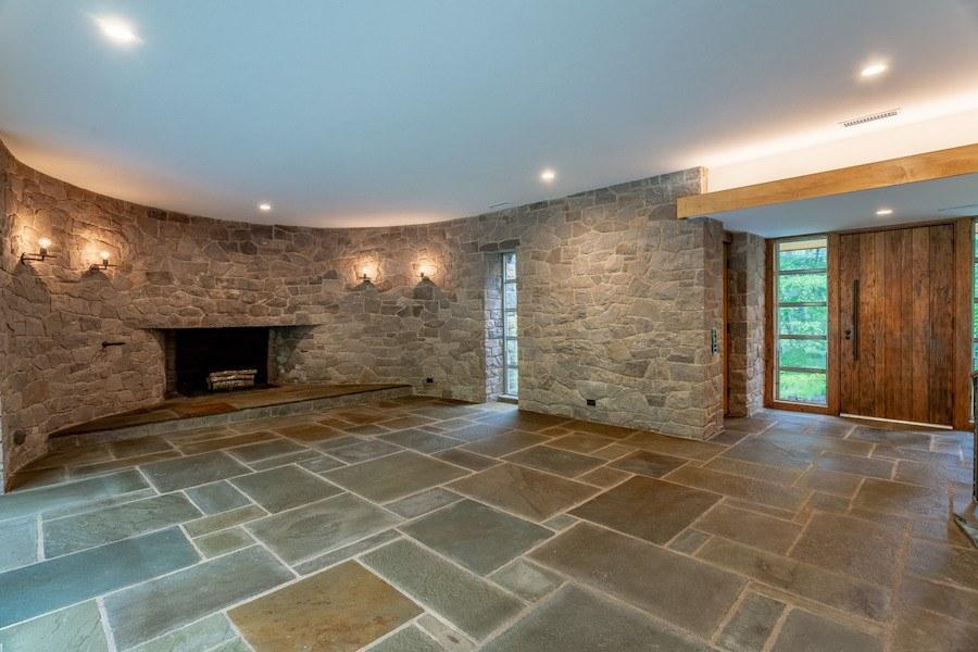 house for sale carversville midcentury modern house living room