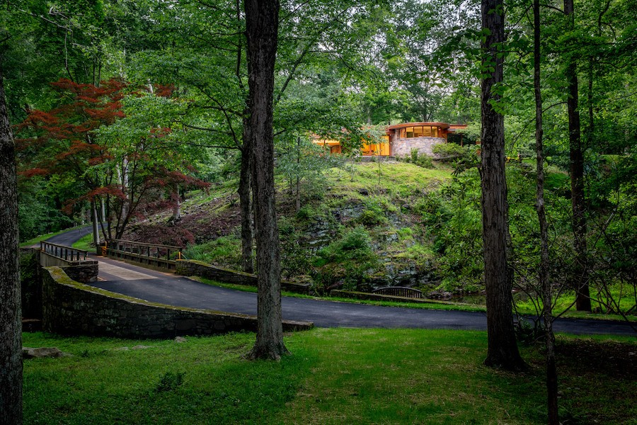 house for sale carversville midcentury modern house house and driveway