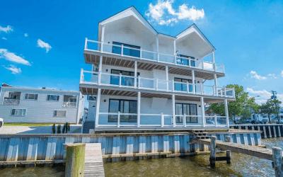 house for sale ventnor bayfront contemporary exterior bay elevation