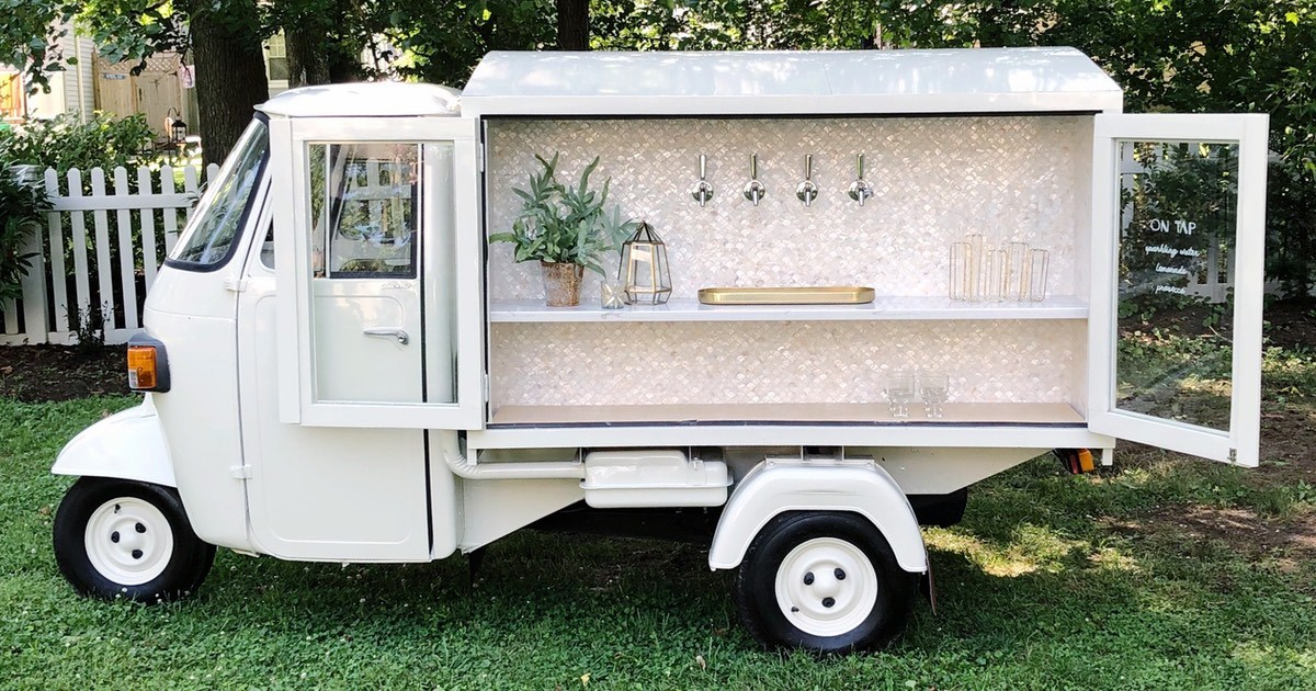 All The Adorable Mobile Bar Carts That Ll Come To Your Philly Wedding