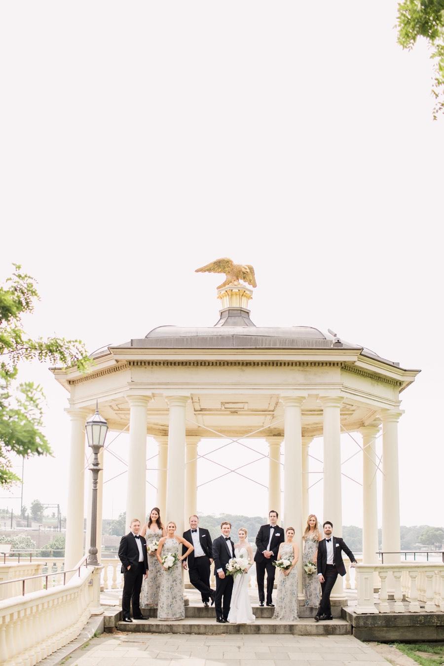 Water Works wedding portrait