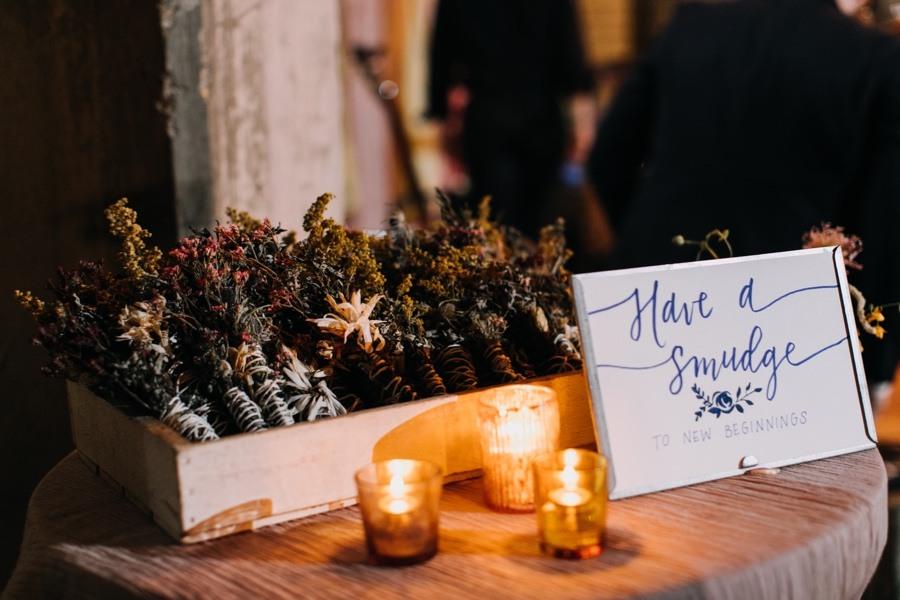 smudge stick wedding favors