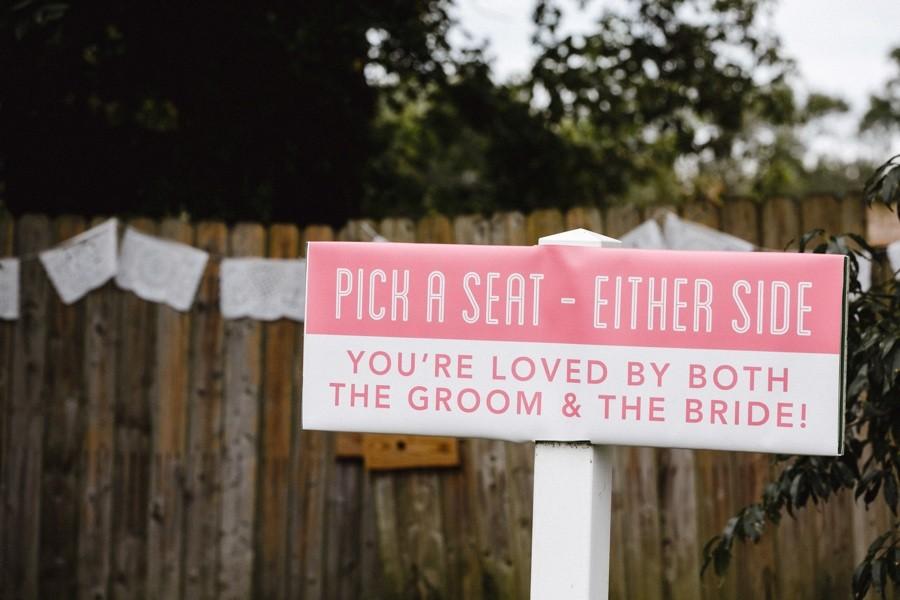 Wedding quote sign