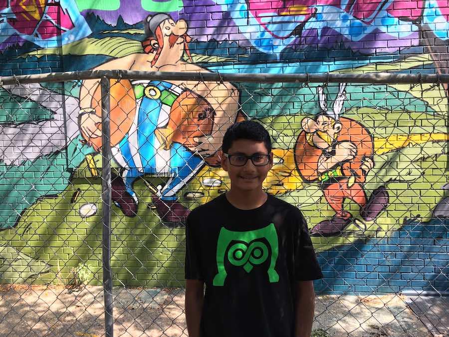 asterix mural demolished obelix